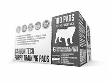 Bulldogology Carbon Puppy Pee Pads with Adhesive Sticky Tape - 100 Count (24x24)