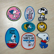 Lot Snoopy Cartoon Patch USA Music Surf Skiing Indian Chief Cute Dog Kids Gift