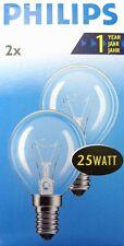 Philips 2er-Pack Tropfenlampe Glühlampe Glühbirne Birne 25W 2700K Warm White E14