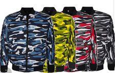 Men's Camouflage Army Military Biker Bomber Summer Jacket