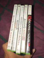 4 Assassin's Creed Xbox 360 Game Lot+gears Of War 3 In Original Cases