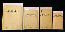 18 Kraft Bubble Padded Envelope Mailer Combo ~ 4 Popular Sizes ~ Self-Sealing