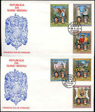 Guinea-Bissau 1981 Royal Wedding Imperf Surch Set Of FDC First Day Cover #C15075