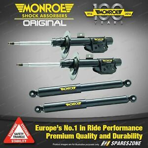 Monroe F + R Original Shock Absorbers for Fiat 500 Hatch Convertible 4/08 - on