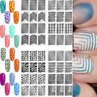 Nail Art Manicure Stencil Sticker Vinyls Stamping DIY Template Tool Nail Accs