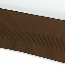 """Ampersand Pintuck Bedskirt 54"""" x 76"""" Full Size 15"""" Drop in Chocolate Brown"""