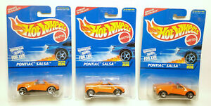 Hot Wheels Pontiac Salsa orange variations 7sp 3sp #596 Lot of 3
