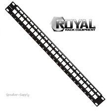 Royal Racks 1U Blank Keystone Plate Rack Mount Patch Panel 24 Port Rack ROY1240