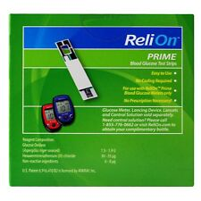 ReliOn Prime Blood Glucose Test Strips, 2 boxes-100 Ct , 200 pcs Free and Fast