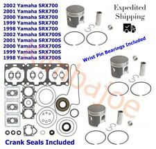 1998-2002 Yamaha SRX 700 S 69 mm STD Bore SPI Pistons Bearings Gaskets Seals