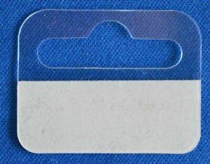 50 x Self Adhesive Euro Hook/Slot/Hang Tabs 44mm x 36mm