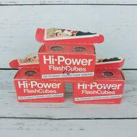 Vtg GE Hi-Power Camera Flash Cubes Bulbs 3 Packs Of 2 Cubes