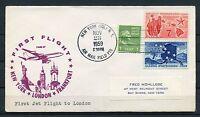US NOV 23,1959 1st JET  FLIGHT FAM27  NEW YORK  TO LONDON   COVER