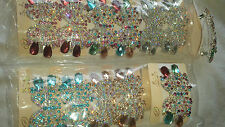Joblot 12 pcs Butterfly Design Sparkly hairclips hairgrips NEW wholesale lot D