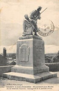 CPA 08 HERPY L'ARLESIENNE MONUMENT AUX MORTS