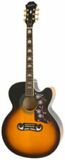 Epiphone EJ-200SCE Solid Top Cutaway Acoustic/Electric Guitar - Vintage Sunburst