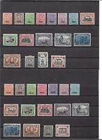 Belgische Militärpost 1919 - 1921, komplette Sätze *, Auswahl, ungebraucht MH *