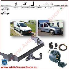 Für Opel Combo C 2002-2012 Anhängerkupplung starr 7-polig Elektrosatz