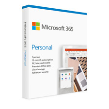 More details for microsoft office 365 personal | 1 year | original activation box by post