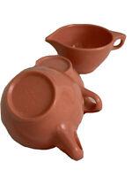 3 Three Vintage BOONTONWARE Melmac 2 Coffee Tea Cups 1 Creamer Pink Coral MCM