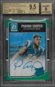 Pharoh Cooper Los Angeles Rams 2016 Donruss Optic Rated Rookie Green Auto BGS