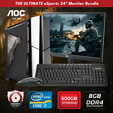 Origin PC INTEL Core i7 7700, NVIDIA GT 730, 500GB HDD, 8GB, Quad Gaming Bundle