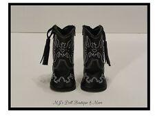 Black Western Cowboy Boots fits American Girl Doll