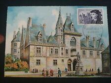 FRANCE PREMIER JOUR FDC YVERT 1034 JACQUES COEUR 12F BOURGES 1955