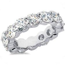 Round Diamond Eternity Ring Platinum Band 17 x 0.25 ct, total 4.26 carat, F Vs