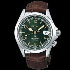 Seiko JAPAN Made Prospex 2020 Alpinist Green Men's Leather Strap Watch