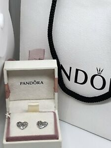 Regal Heart Earrings With Pandora Box,gift Bag And Wrap