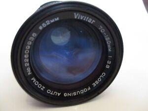 VIVITAR CLOSE FOCUSING AUTO ZOOM CAMERA LENS #22949030 70-150mm 1:3.8 c.80's VGC