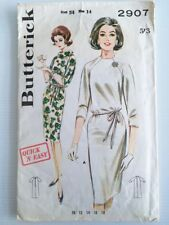 Vintage 1960s Pattern Misses Raglan Sleeve Shift Dress | Sz 14 - Butterick 2907
