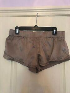 LaRok Embellished Mauve Satin Shorts Size S