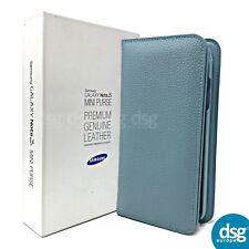 GENUINE SAMSUNG GALAXY NOTE 3 REAL LEATHER PURSE BLUE LIME EF-HN900BLEGWW
