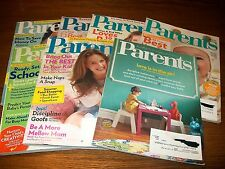Set of 7 Parents Magazines August 2011 to February 2012