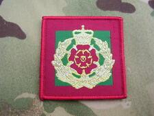 Duke Of Lancs Army Cap/Beret Badge On Regimental TRF Combat Jacket/Shirt Patch
