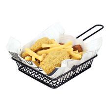 Baoblaze Sqaure Food Basket For French Fries & Burger & Chip Serving Basket