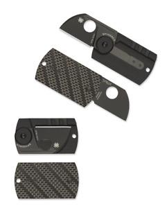 Spyderco Dog Tag Folder Knife Black Carbon Fiber & G-10 S30V Steel C188CFBBKP