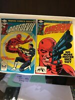 Daredevil Lot 183 And 184 Punisher And Gun Issue Jun 1982, Marvel)  VF/NM- NICE