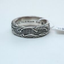 New DAVID YURMAN Men's Waves Band Ring 7mm Sterling Silver Size 9.75 NWT