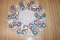 30 VINTAGE NOS CHRISTMAS MINI WREATHS IN PACKS ORNAMENTS GIFT TIES NEW OLD STOCK
