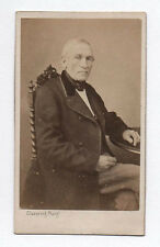 PHOTO ANCIENNE CDV Homme Assis Chaise Clavering Calais Vers 1870