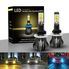 2x 880 881 889 H27 White Yellow 80W High Power LED Fog Light Driving Bulbs DRL