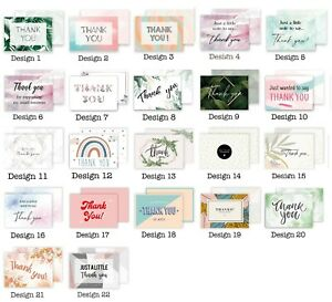 Thank You Cards Postcards Notes & Envelopes A6 Pack Thankyou Cards Notes Multi
