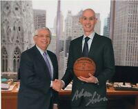 ADAM SILVER SIGNED AUTOGRAPH BASKETBALL NBA COMMISSIONER 8X10 PHOTO #3
