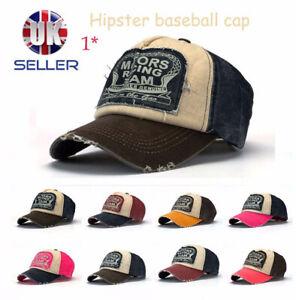 Men Women Retro Vintage Hipster Baseball Cap Denim Distressed Cowboy Trucker Hat