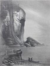 GRANT SIMON-PAFA/AWS Modernist-Original Hand Signed LIM.ED Litho-Gaspé Coast