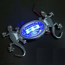 CAR SIDE PANEL FENDER VENT COVER CHROME GECKO BLUE LED LIGHT X 2 PIECES