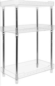 Sorbus Shelf 3-Tier Clear Storage Shelf